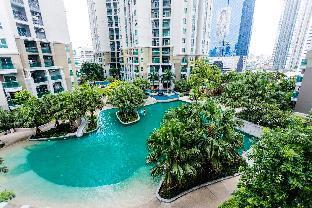 Nice Resort-like Condo in Central Bangkok中文服务 อพาร์ตเมนต์ 2 ห้องนอน 2 ห้องน้ำส่วนตัว ขนาด 98 ตร.ม. – รัชดาภิเษก
