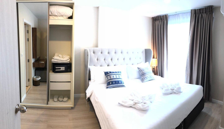 61 EKKAMAI BTS丨UPPER DISTRICT丨WIFI 丨POOL AND GYM อพาร์ตเมนต์ 1 ห้องนอน 1 ห้องน้ำส่วนตัว ขนาด 23 ตร.ม. – สุขุมวิท