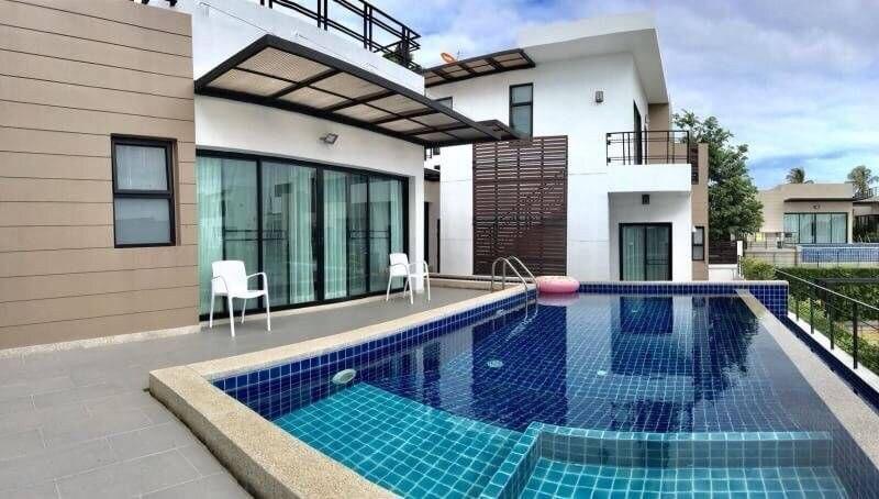 Modern luxury 3BR villa +BBQ table l 8 pax - VVP3 วิลลา 3 ห้องนอน 4 ห้องน้ำส่วนตัว ขนาด 150 ตร.ม. – บางสเหร่