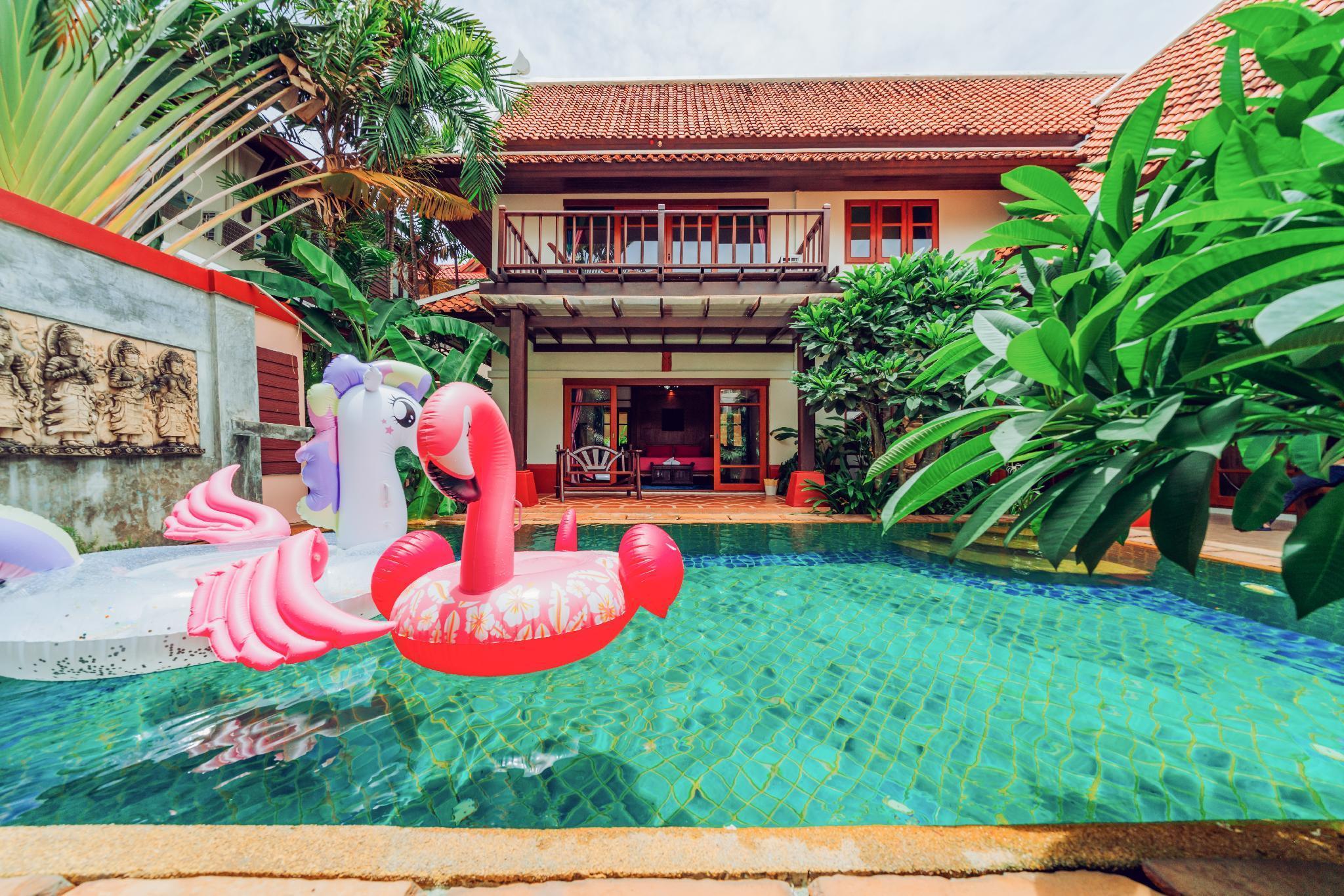 Jomtien Beach Super Deluxe Pool Villa วิลลา 4 ห้องนอน 4 ห้องน้ำส่วนตัว ขนาด 360 ตร.ม. – เขาพระตำหนัก