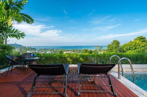 LUXURY  SEAVIEW AP  PRIVATE POOL JACUZ- 2BDR- 6/7P Phuket