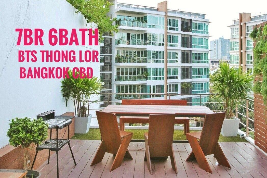 7BR 6Bath BTS ThongLor 300m 4Mins Walk Bangkok CBD