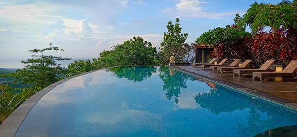 Tranquil & exotic ocean and forest view villas Bali