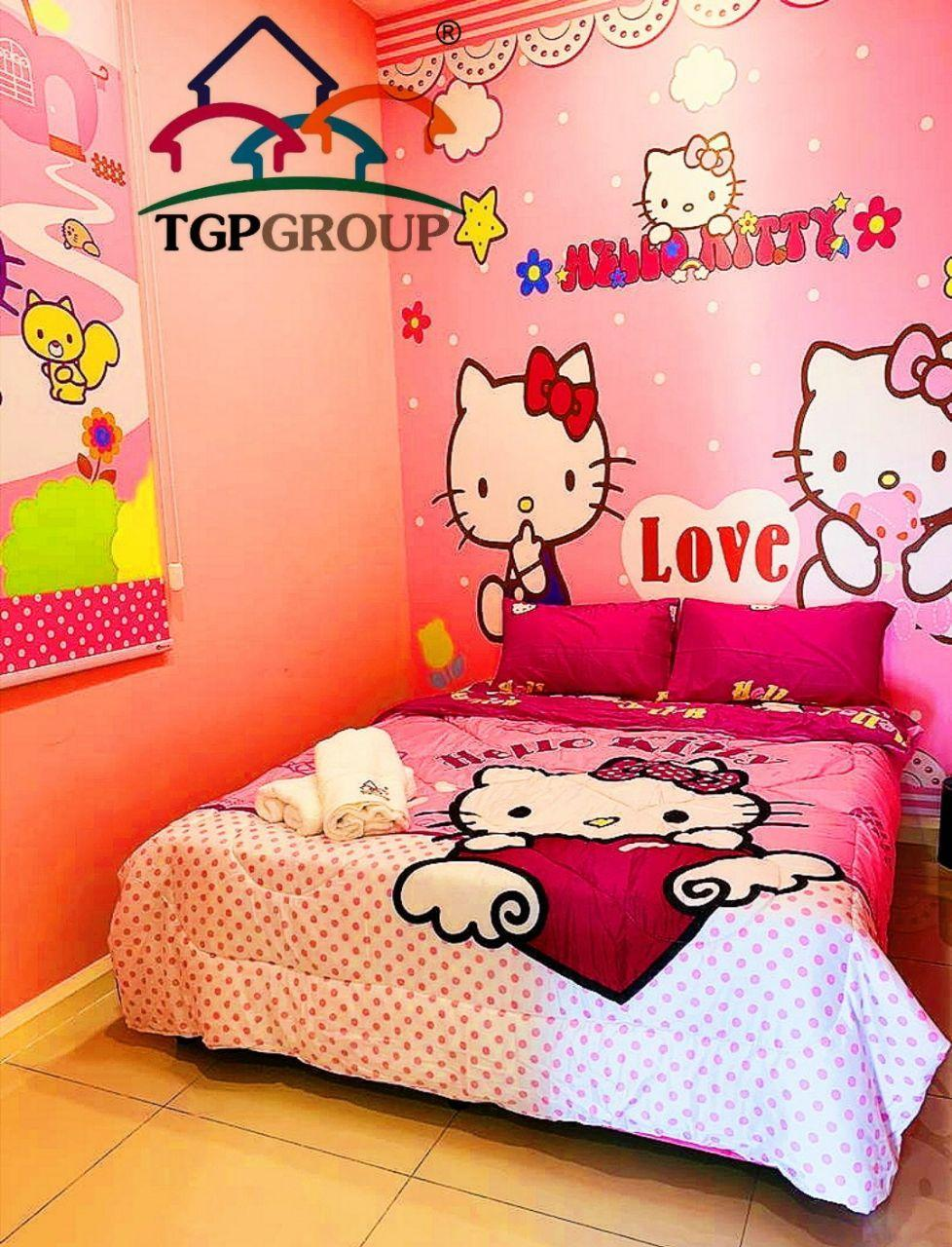 Hello Kitty Themed At D'Pristine Apartment  TGP