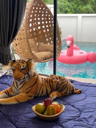 [カオタキアブ]ヴィラ(240m2)| 3ベッドルーム/2バスルーム Greenviewpool villa Hua Hin