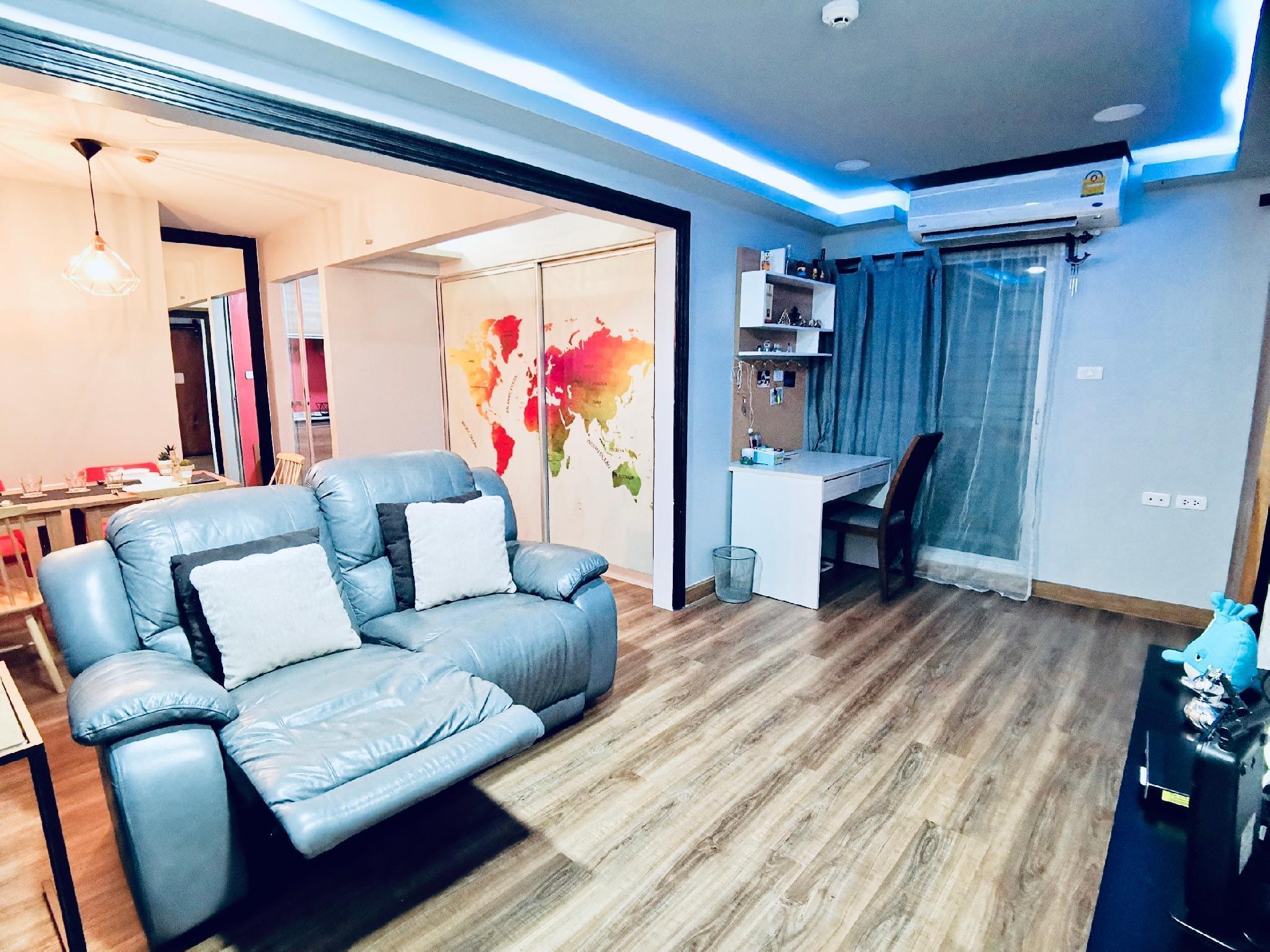 2 Bed rm, 2 Baht rm, cozy Condo in the city center อพาร์ตเมนต์ 2 ห้องนอน 2 ห้องน้ำส่วนตัว ขนาด 50 ตร.ม. – ธนบุรี