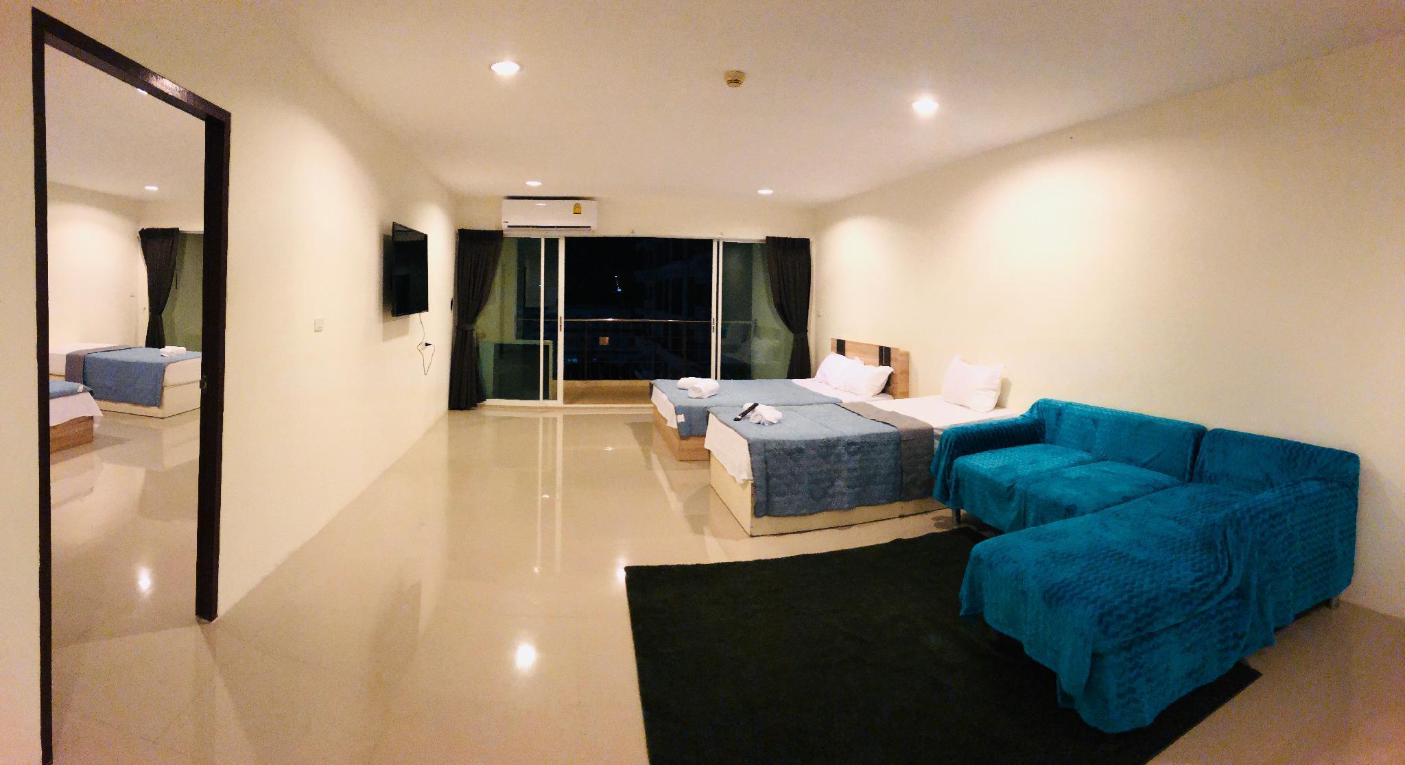 Pattaya two bedroom four bed luxury family room อพาร์ตเมนต์ 2 ห้องนอน 1 ห้องน้ำส่วนตัว ขนาด 110 ตร.ม. – เทพประสิทธิ์