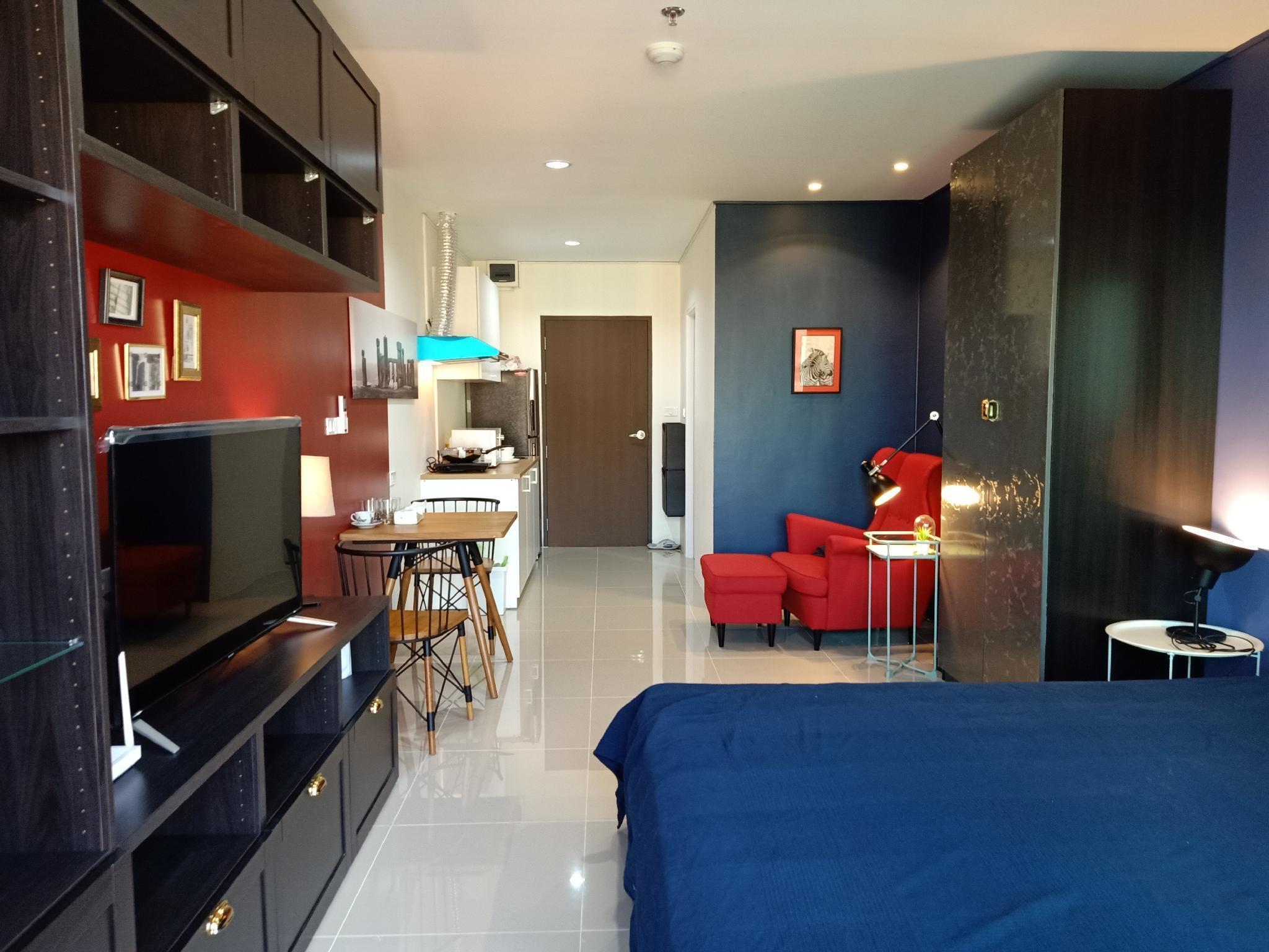 Brand new Condo, near Airport link Huamak อพาร์ตเมนต์ 1 ห้องนอน 1 ห้องน้ำส่วนตัว ขนาด 30 ตร.ม. – บางนา