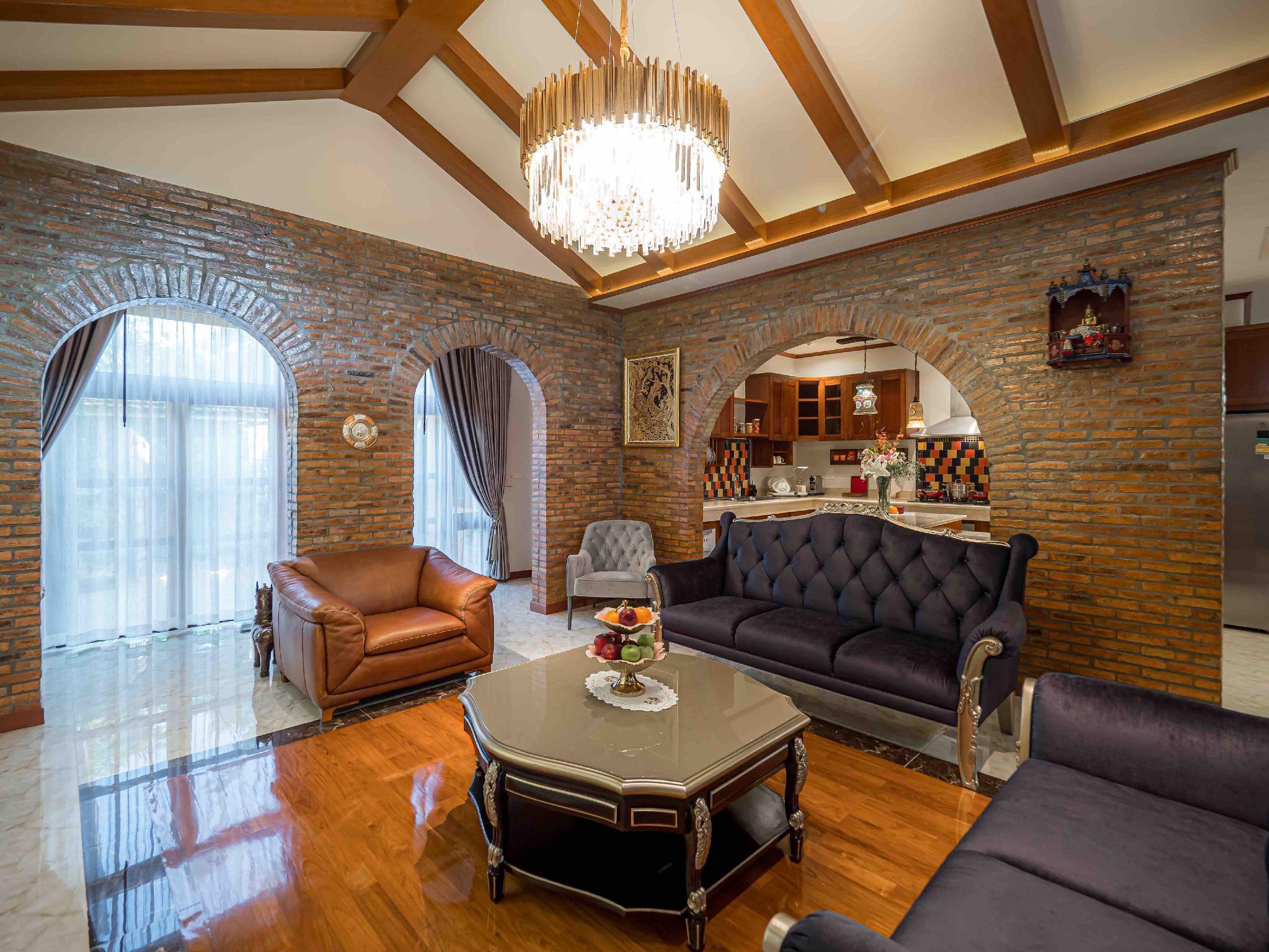 Modern Love Villa/new/free breakfast/car วิลลา 5 ห้องนอน 5 ห้องน้ำส่วนตัว ขนาด 410 ตร.ม. – หางดง