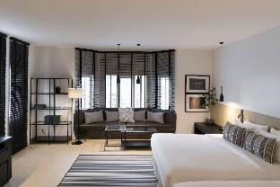 A cozy living with two king size beds 1 ห้องนอน 1 ห้องน้ำส่วนตัว ขนาด 30 ตร.ม. – ริมแม่น้ำกรุงเทพ