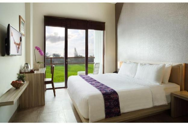 1BR Deluxe with Rice Paddies View in Ubud Center.