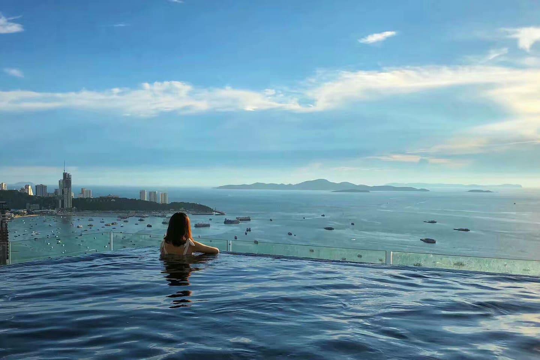 B2 Infinity Pool impressive view 100m china town อพาร์ตเมนต์ 1 ห้องนอน 1 ห้องน้ำส่วนตัว ขนาด 35 ตร.ม. – พัทยากลาง
