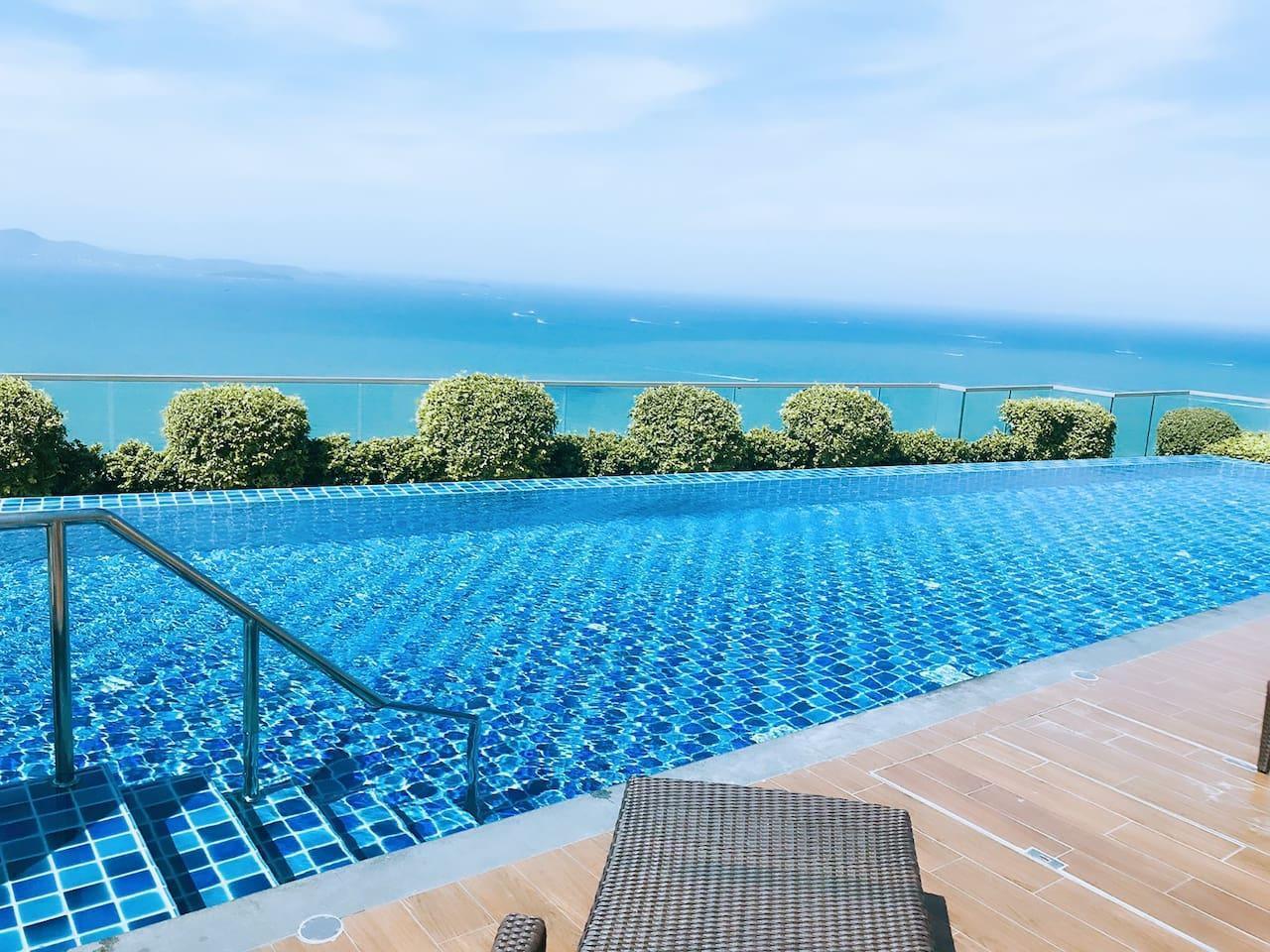 D15 outstanding Pattaya city view with sky pool อพาร์ตเมนต์ 1 ห้องนอน 1 ห้องน้ำส่วนตัว ขนาด 31 ตร.ม. – เขาพระตำหนัก