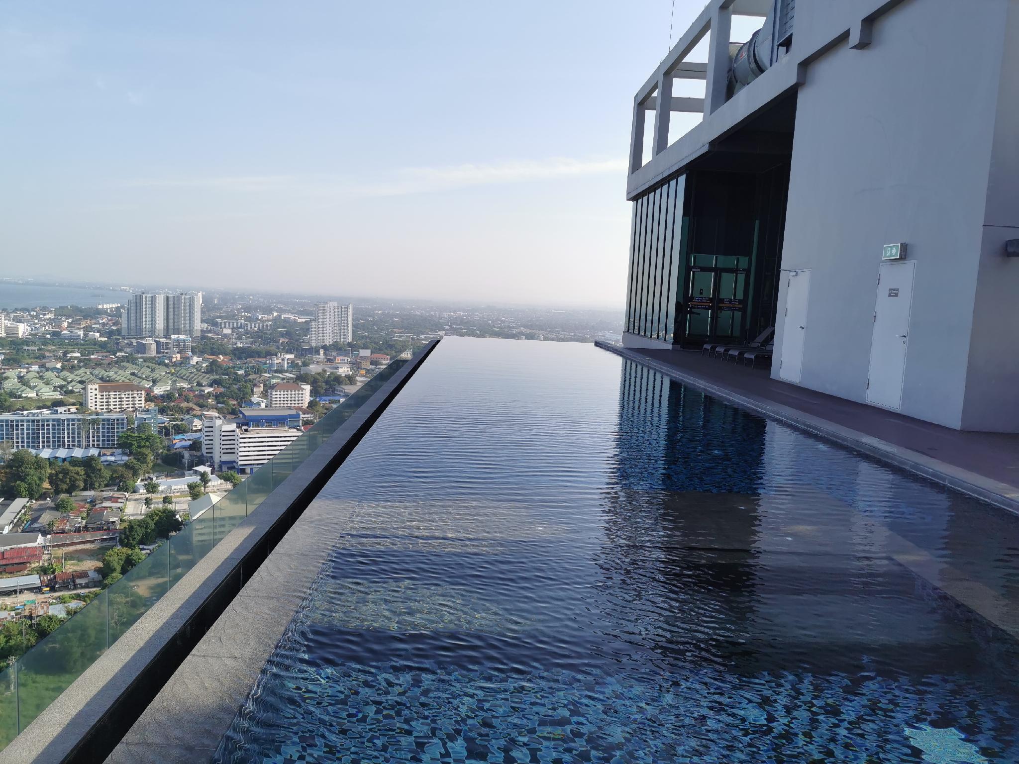 Pattaya Posh Condo Seaview Room อพาร์ตเมนต์ 1 ห้องนอน 1 ห้องน้ำส่วนตัว ขนาด 28 ตร.ม. – พัทยากลาง