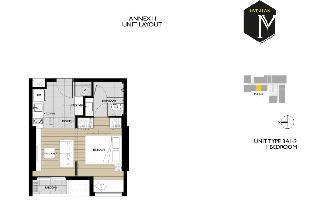 [Chatuchak]アパートメント(33m2)| 1ベッドルーム/1バスルーム M jatujak