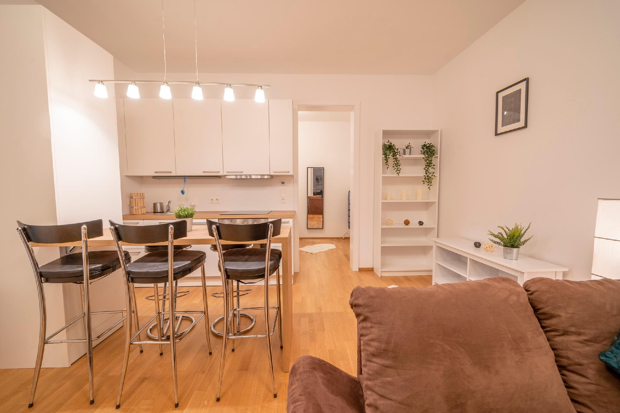Bright and Light Apartment/w. terrace near centre