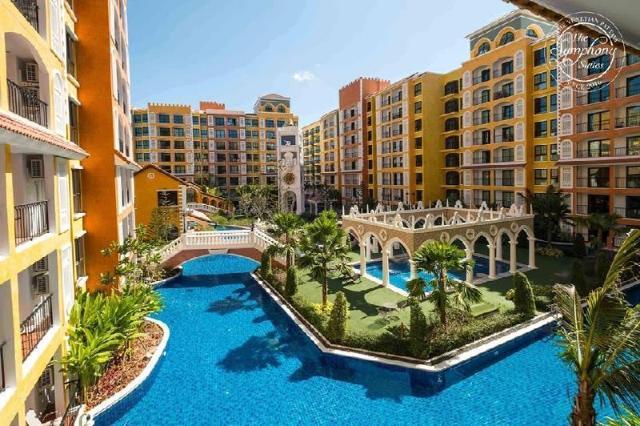 อพาร์ตเมนต์ 1 ห้องนอน 1 ห้องน้ำส่วนตัว ขนาด 34 ตร.ม. – หาดจอมเทียน – Venetian  Condo Resort Pattaya (Pool View)