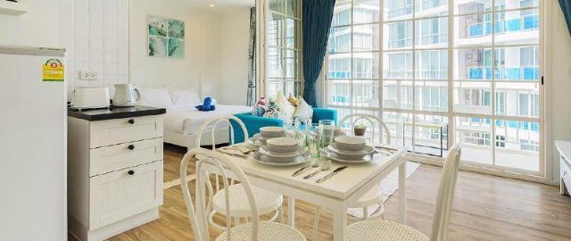 อพาร์ตเมนต์ 1 ห้องนอน 1 ห้องน้ำส่วนตัว ขนาด 42 ตร.ม. – เขาตะเกียบ – [509] Summer HuaHin condominium by sansiri