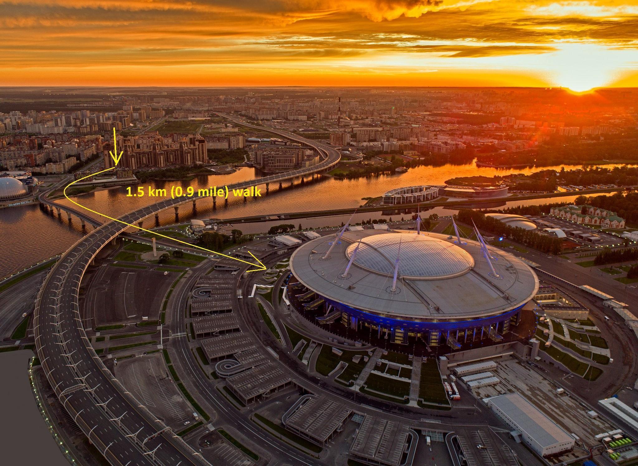 Stadium Saint Petersburg Zenit Arena Primorsky 137