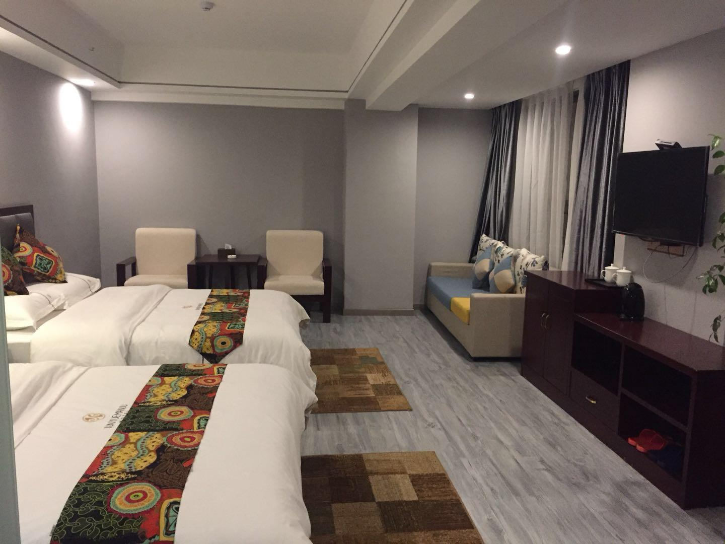 Deluxe Tianmenshan Mountain Double Bed Room
