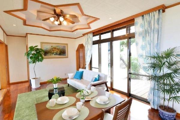 Ocean view wood deck is the best! Private house! Okinawa Main island
