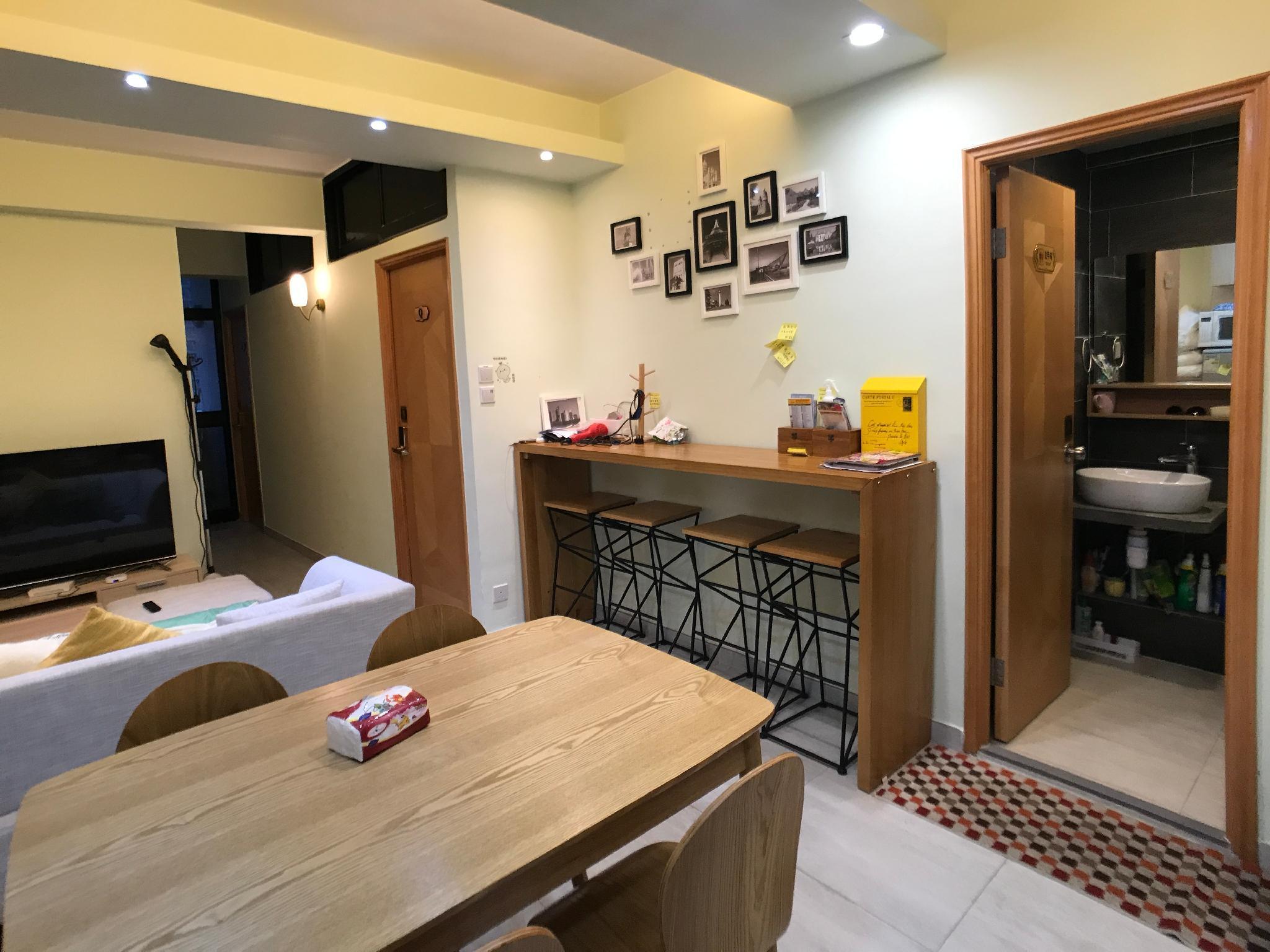Hong Kong, Warm Apartment 3 rooms 2 wc 1-7 ppls