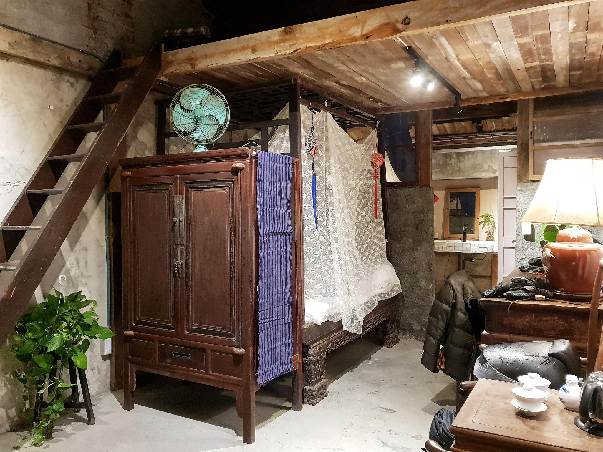 Centennial antique Yilan bed