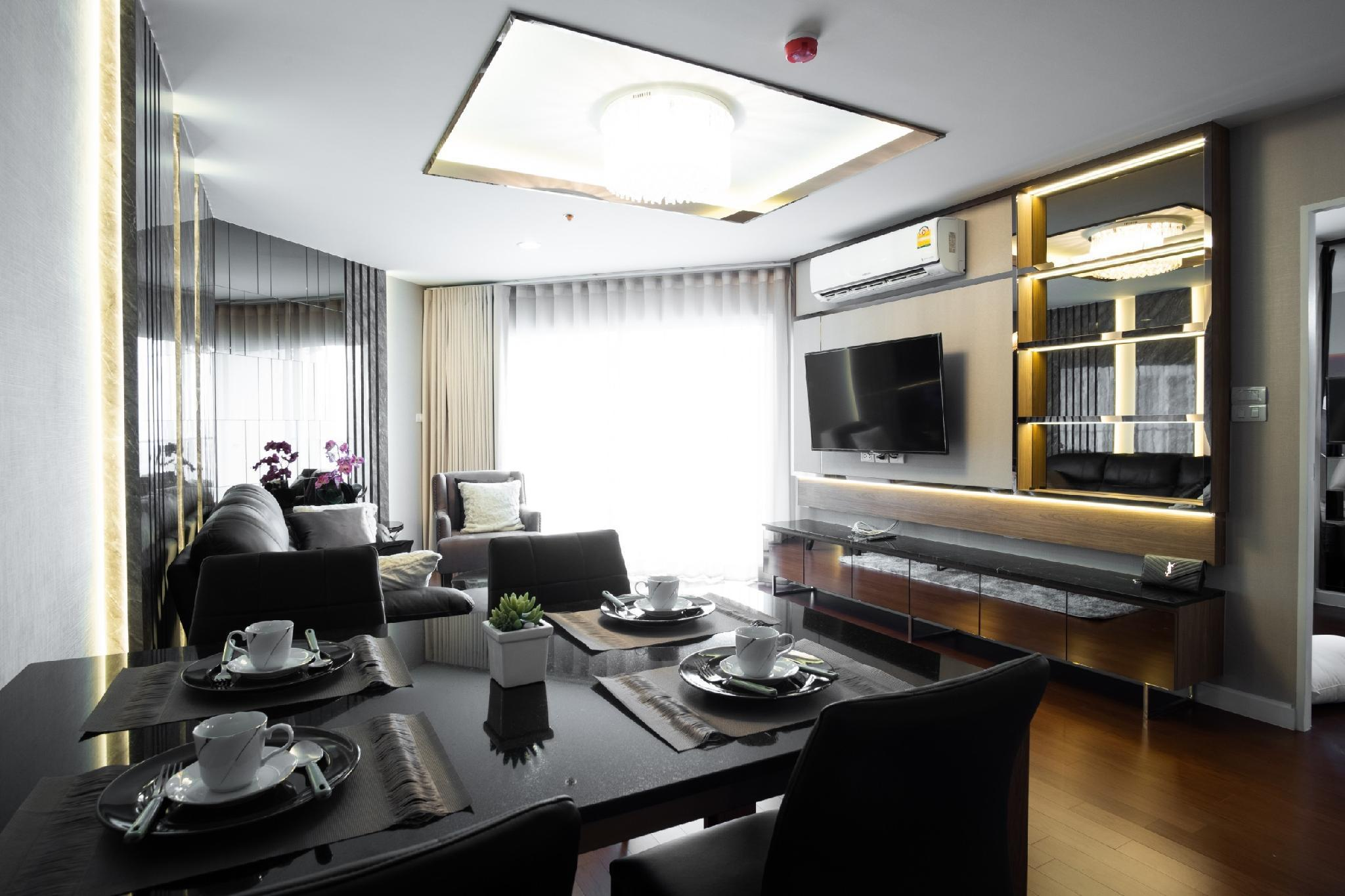 LuxuryDuplex belle condo/Subway Rama9/3BR/BKK/Wifi อพาร์ตเมนต์ 3 ห้องนอน 3 ห้องน้ำส่วนตัว ขนาด 109 ตร.ม. – รัชดาภิเษก