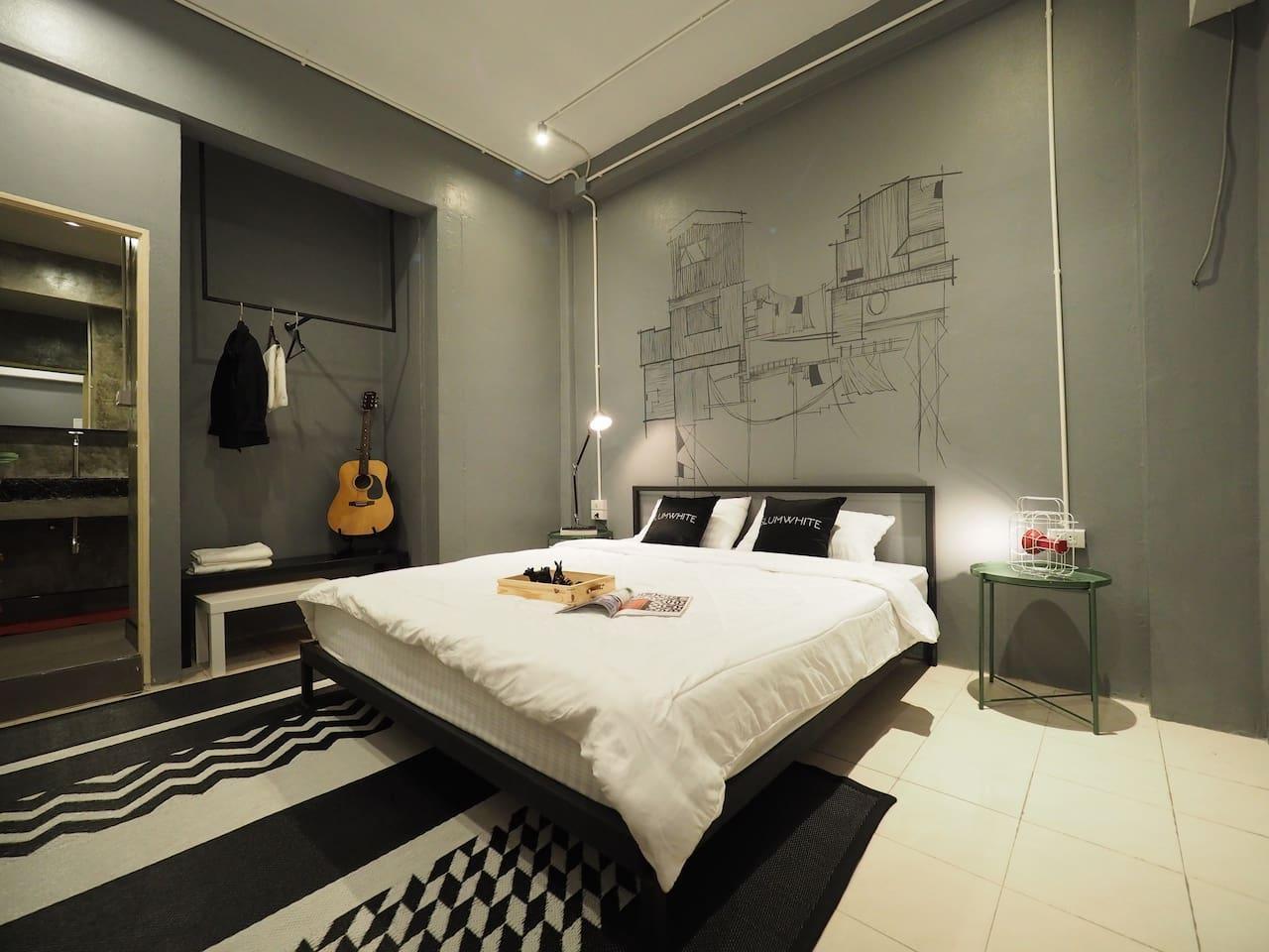 Private room for 2/JJ market/BTS/Aree อพาร์ตเมนต์ 1 ห้องนอน 1 ห้องน้ำส่วนตัว ขนาด 20 ตร.ม. – จตุจักร