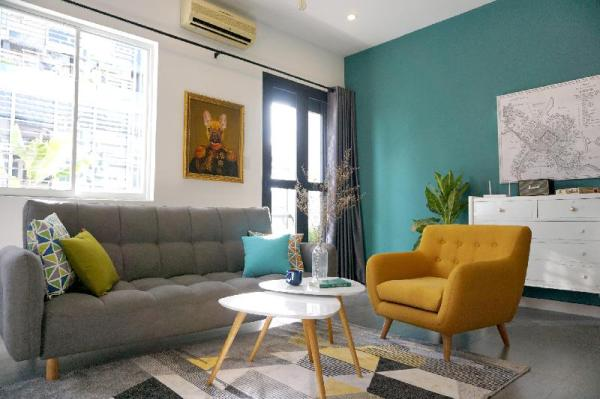Spacious Retro Apt, 5 Min Walk to Ben Thanh Market Ho Chi Minh City