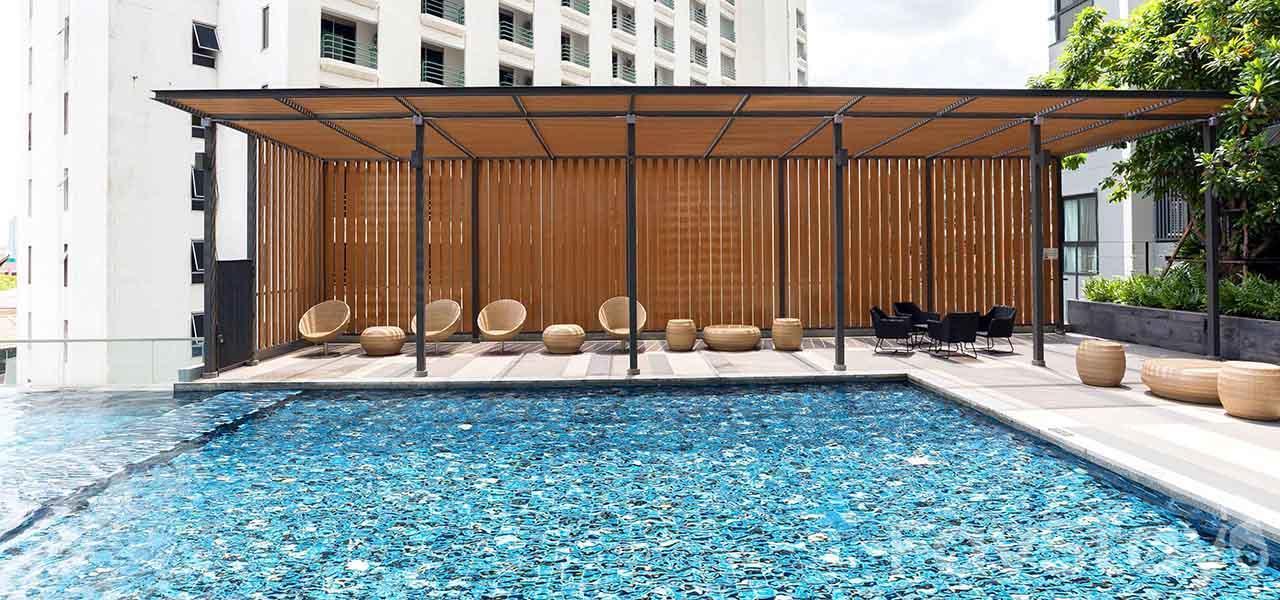 Luxury Pool  1BR  Ratchada 17 MRT Sutthisan