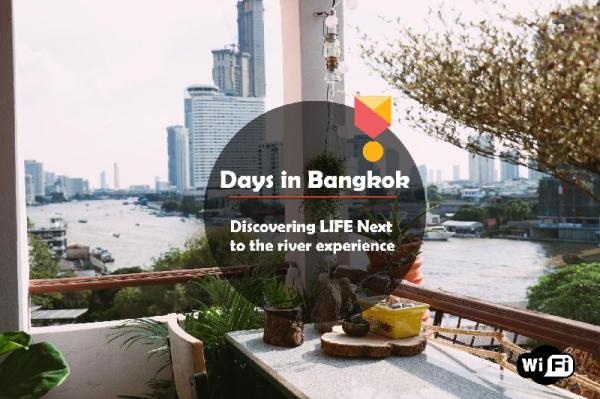 Amazing 180 DEGREE River View Near MRT/ Train Bangkok