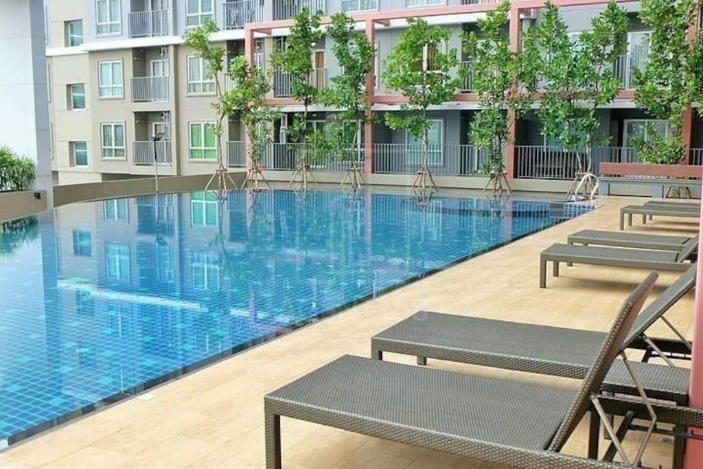 Modern Swimming Pool View @ Rich park Taopoon อพาร์ตเมนต์ 1 ห้องนอน 1 ห้องน้ำส่วนตัว ขนาด 30 ตร.ม. – จตุจักร