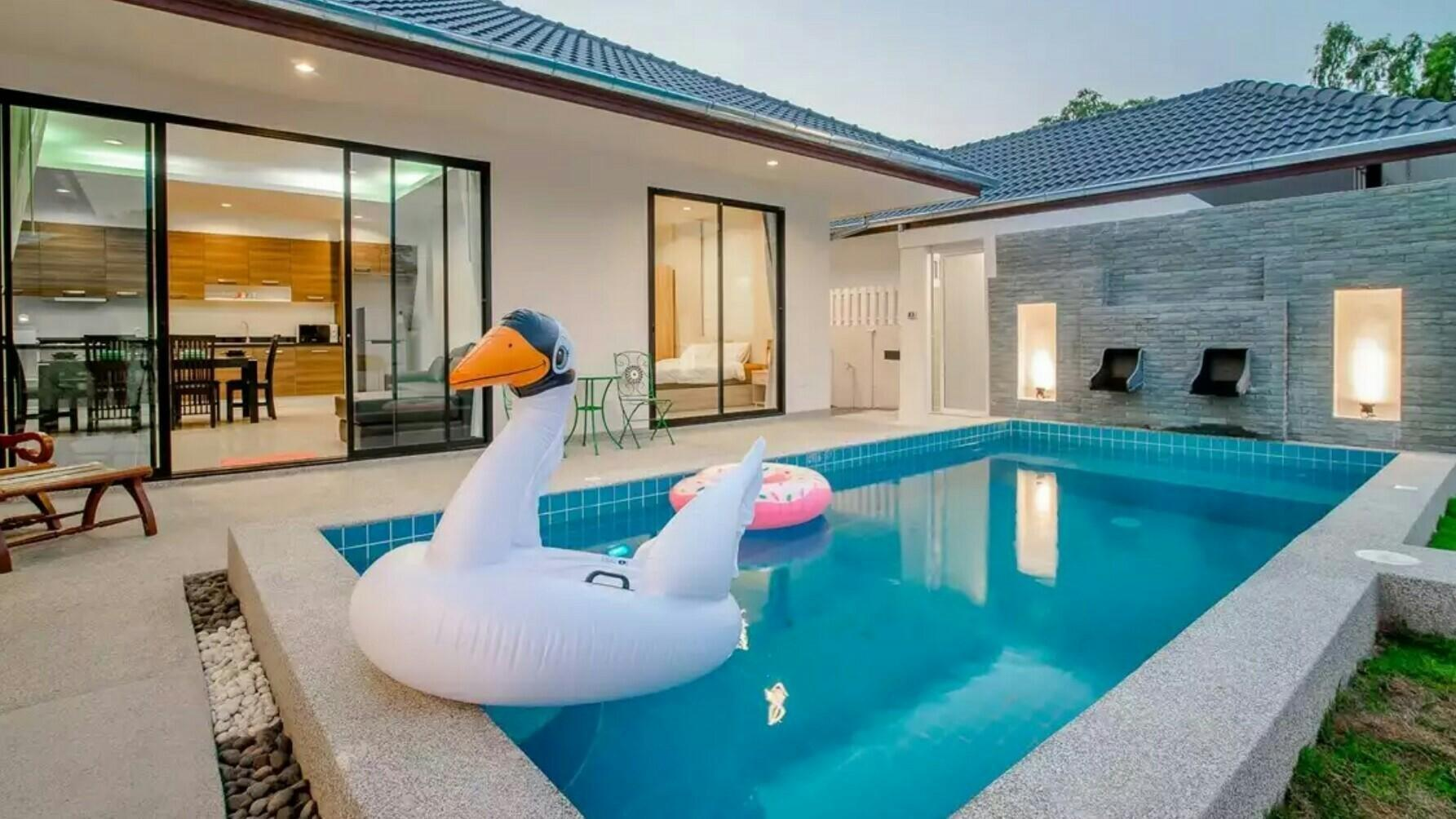 Modern Style PoolVilla | Center of HuaHin วิลลา 3 ห้องนอน 3 ห้องน้ำส่วนตัว ขนาด 200 ตร.ม. – กลางเมืองหัวหิน