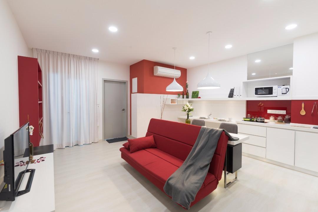 Straits Garden Suite  Cozy Red 1