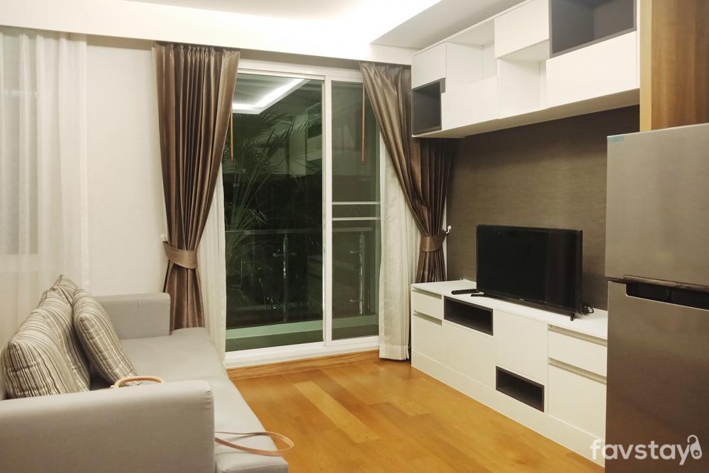 1BR Sunny Sky pool BTS Nana Nightlife in Sukhumvit อพาร์ตเมนต์ 1 ห้องนอน 1 ห้องน้ำส่วนตัว ขนาด 30 ตร.ม. – สุขุมวิท