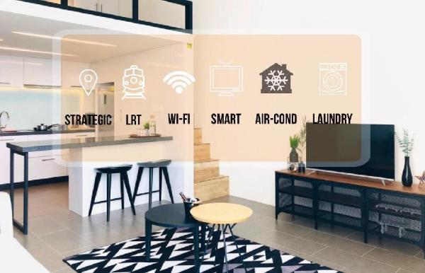 The EST-KL sentral 2min.Modern loft Netflix+43'TV  Kuala Lumpur