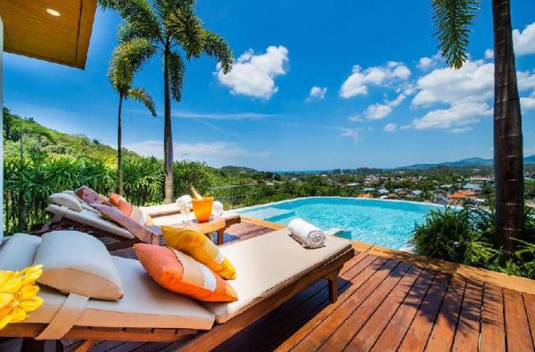 VILLA MANTRA - Sea view, Bangtao-Surin beach 4+1BR Phuket