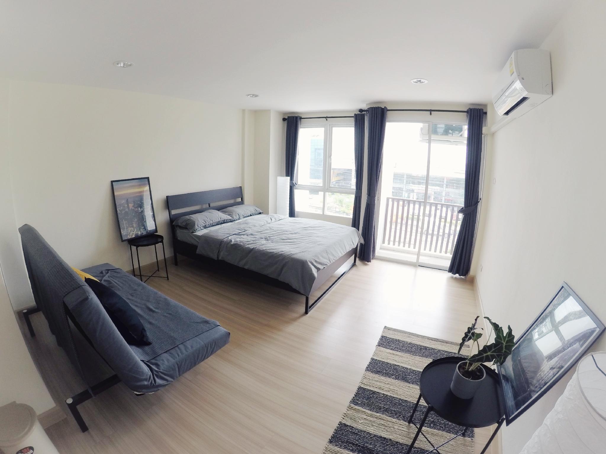 Hostbox Bangkok - Triple Room สตูดิโอ อพาร์ตเมนต์ 1 ห้องน้ำส่วนตัว ขนาด 32 ตร.ม. – สนามบินสุวรรณภูมิ