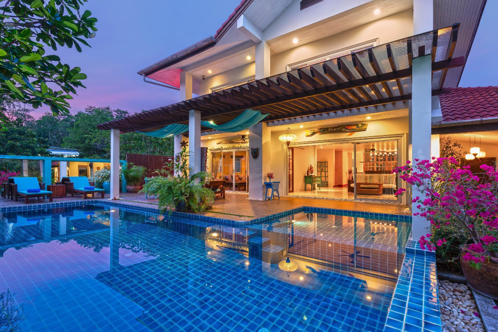 Artful 3-bedroom Pool Villa, lovely garden, Rawai วิลลา 3 ห้องนอน 3 ห้องน้ำส่วนตัว ขนาด 200 ตร.ม. – ในหาน