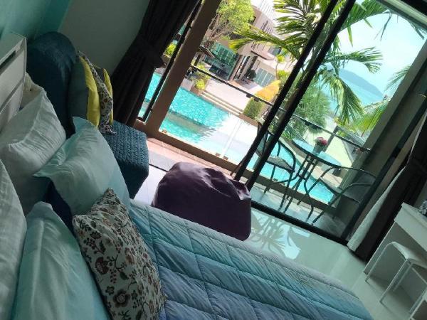 89/133 Studio Sea view condo,Free carpark&kitchen Phuket