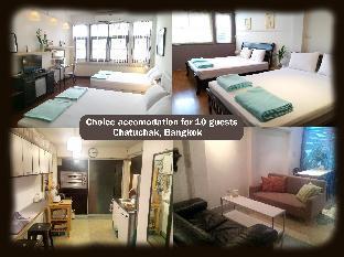 [ラチャダーピセーク]一軒家(110m2)| 2ベッドルーム/3バスルーム Two large rooms for ten people in Chatuchak area