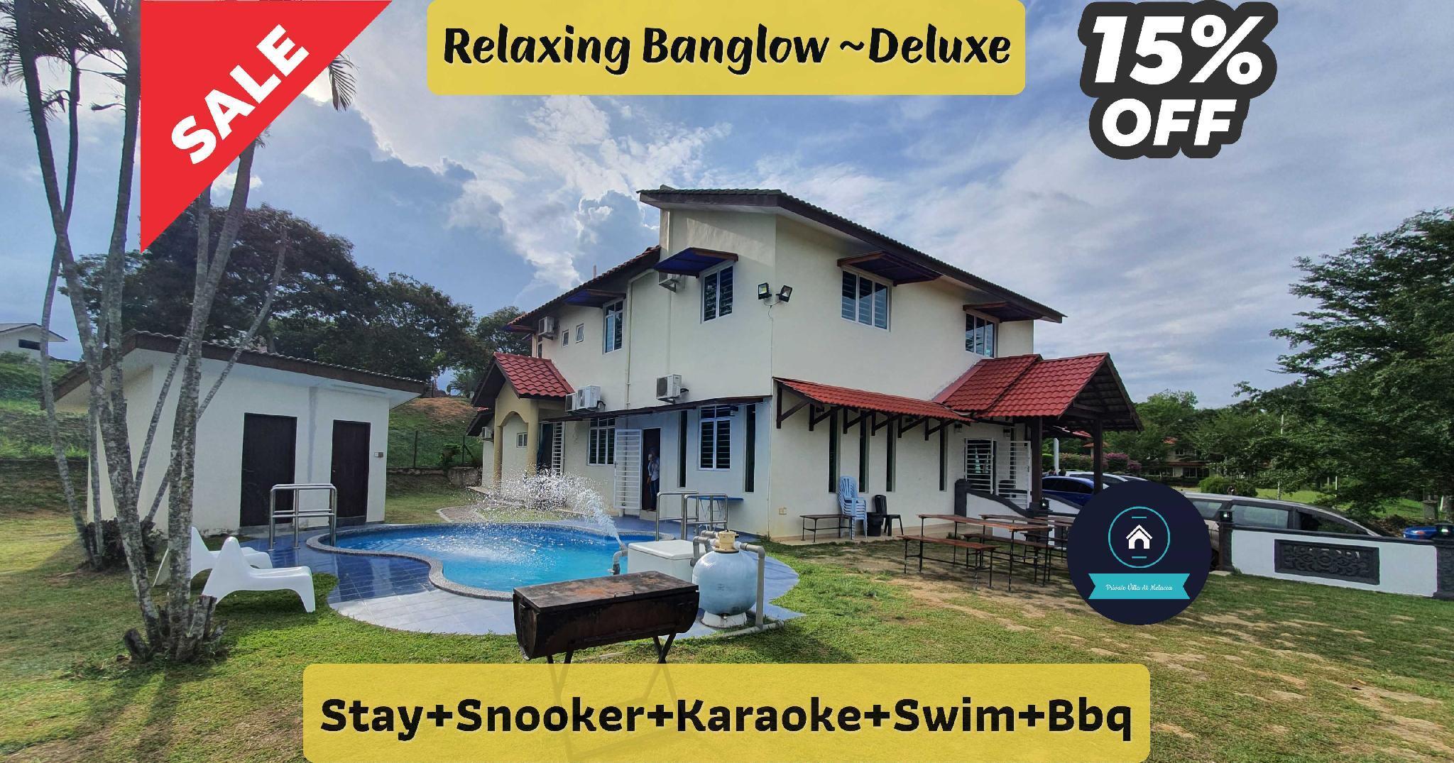 Relaxing Banglow Deluxe Karaoke+Swim+Bbq+Snooker
